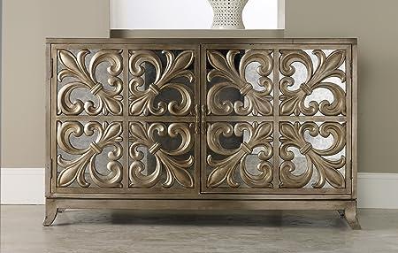 La Credenza Uk : Hooker furniture melange fleur de lis mirrored credenza: amazon.co