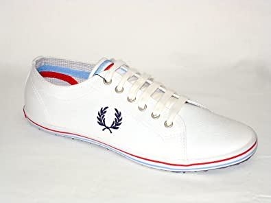 Fred Perry Kingston Twin Tipped B9114-515 Homme Chaussures Blanc tUzf3vjj
