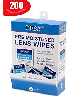 Premoistened Lens and Glass Cleaning Wipes - Portable Travel Cleaner for Glasses, Camera, Cell