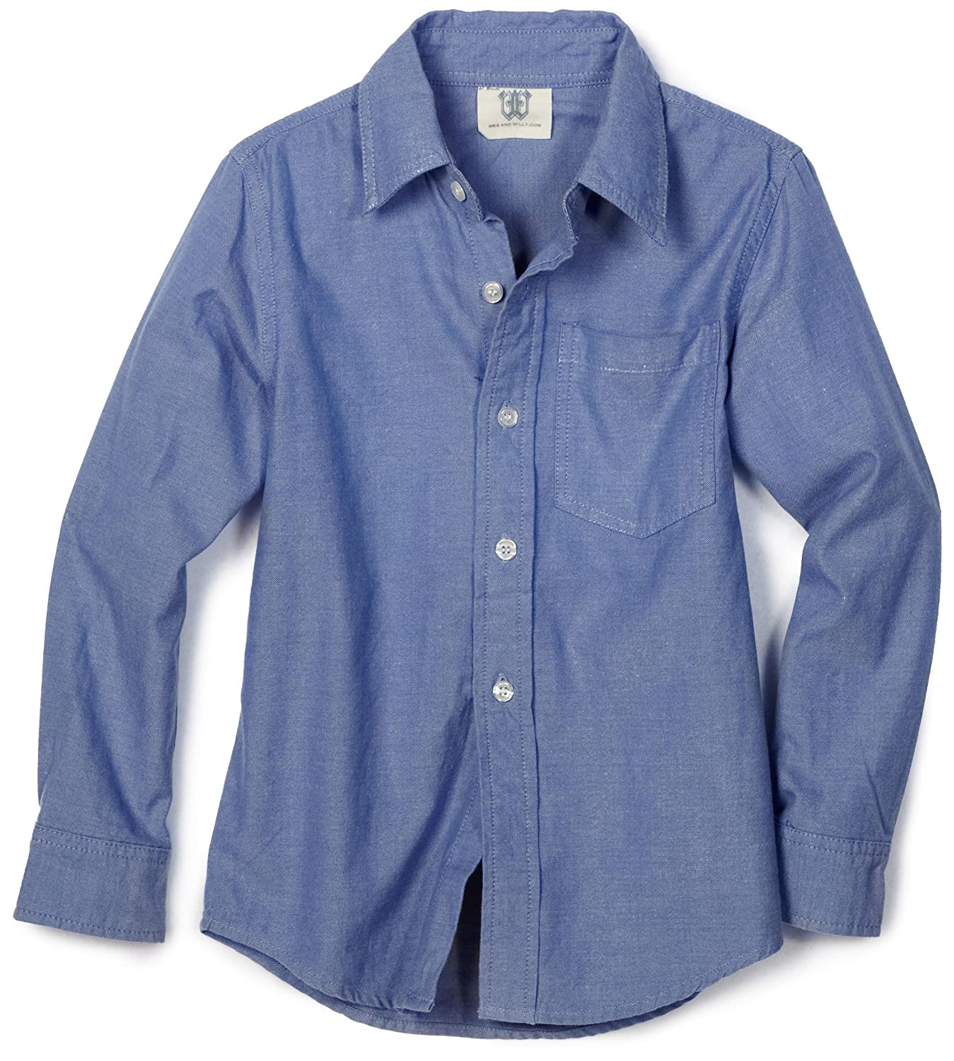 Wes and Willy Little Boys Toddler Basic Long-Sleeve Oxford Dress Shirt 3229