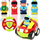 JOYIN Cartoon RC Race Car Radio Remote Control with Music and Sound for Baby and Toddler Toys, School Classroom Prize, Children Holiday Toy for 2 Year Old