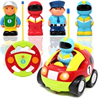 JOYIN Toy Cartoon RC Race Car Radio Remote Control with Music & Sound for Baby and Toddler Cars, School Classroom Prize, Children Toy for 2 Year Old