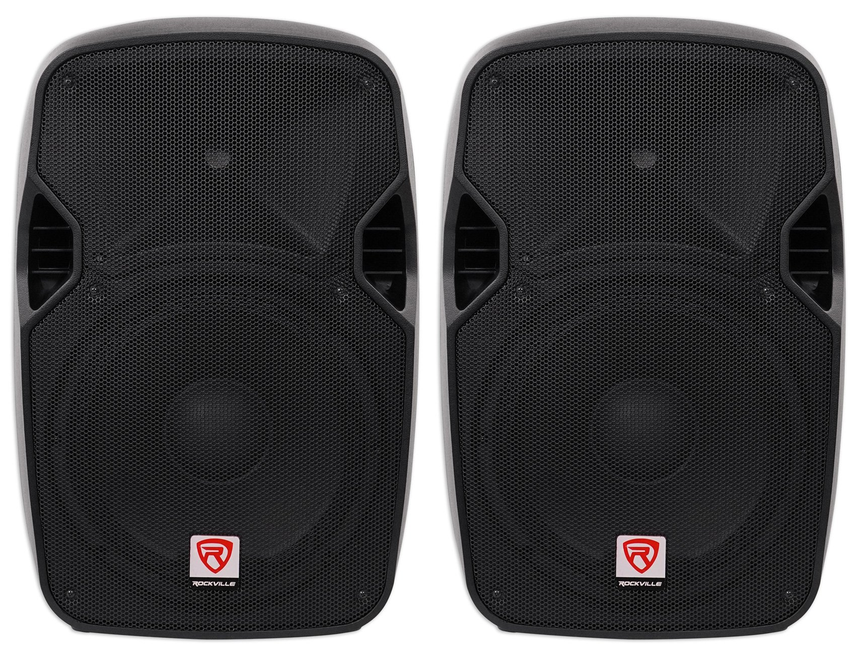 (2) Rockville SPGN124 12'' Passive 2400W DJ PA Speakers ABS Lightweight Cabinets by Rockville