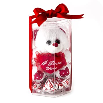 Amazon valentines day love candy chocolate w teddy bear valentines day love candy chocolate w teddy bear miniature i love you teddy bear with voltagebd Gallery