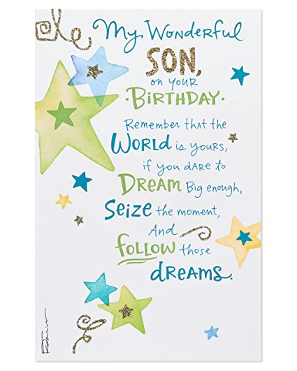 Image Unavailable Not Available For Color American Greetings Dreams Birthday Card Son