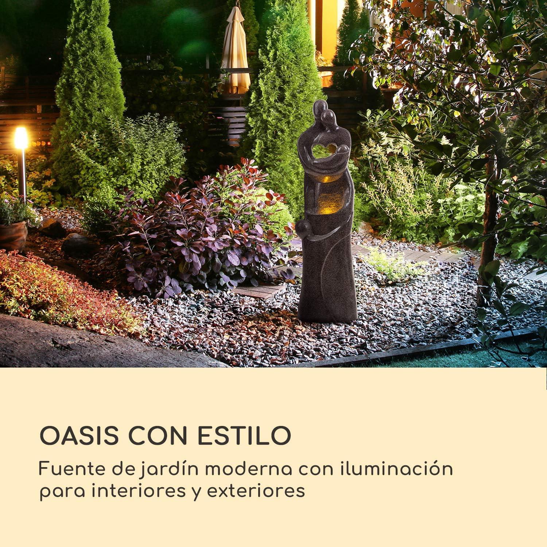 blumfeldt Sagrada Familia Fuente de jardín - Iluminación LED, para Interior y Exterior, 7W, Polirresina, Resistente a Las heladas y a los Rayos UVA, Loopflow, Cable de 10 m, Humidificador Auto: Amazon.es: Jardín