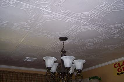 Amazon Com Td Polystyrene Ceiling Tile To Cover Popcorn