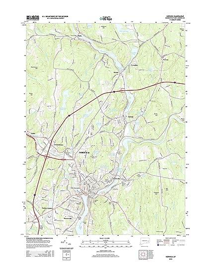 Amazon.com: Topographic Map Poster - Norwich, CT TNM GEOPDF 7.5X7.5 ...