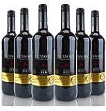 Lussory Vino Rojo - Paquete de 6 x 750 ml - Total: 4500 ml
