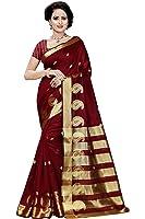 Vatsla Enterprise Women's Cotton Saree (Vpyshylow_Red_Free Size)