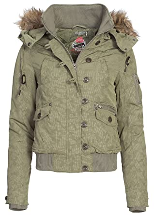 Damen Winter Camo Kapuze Eight2nine Jacke Abnehmbar Bomber pGLUMqzjSV
