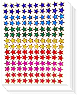 ~ Sparkle Jewel Stars Star Pink Purple Yellow Red Silver Mrs Grossman Stickers ~