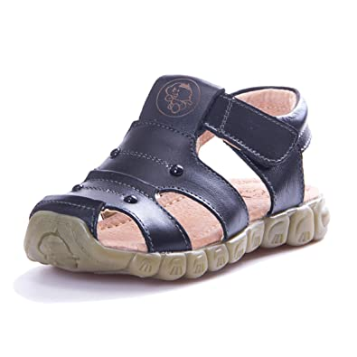 7f14b5bda KVbaby Boy s Girl s Closed Toe Outdoor Sandal Kids Summer Soft Soled  Leather Sandal Flexible Sandals
