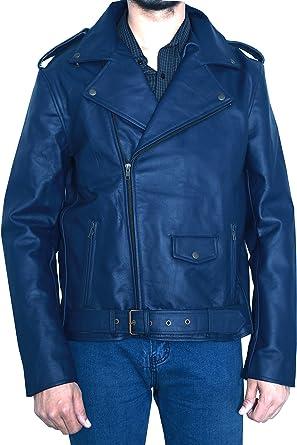 Walking Dead Negan Blue 100/% Leather Jacket