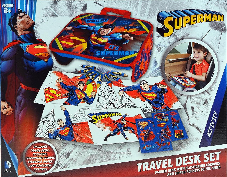 Batman oder Superman Reise Schreibtisch-Set: Amazon.de: Spielzeug
