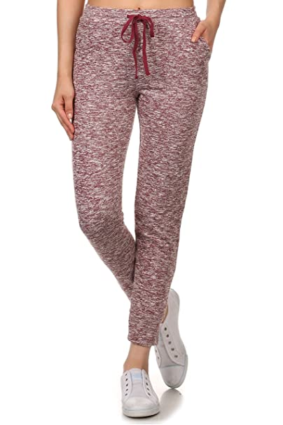 Women's Jogger Relaxed Terry Lounge Long Jersey Pant Drawstring Elastic /  Cotton