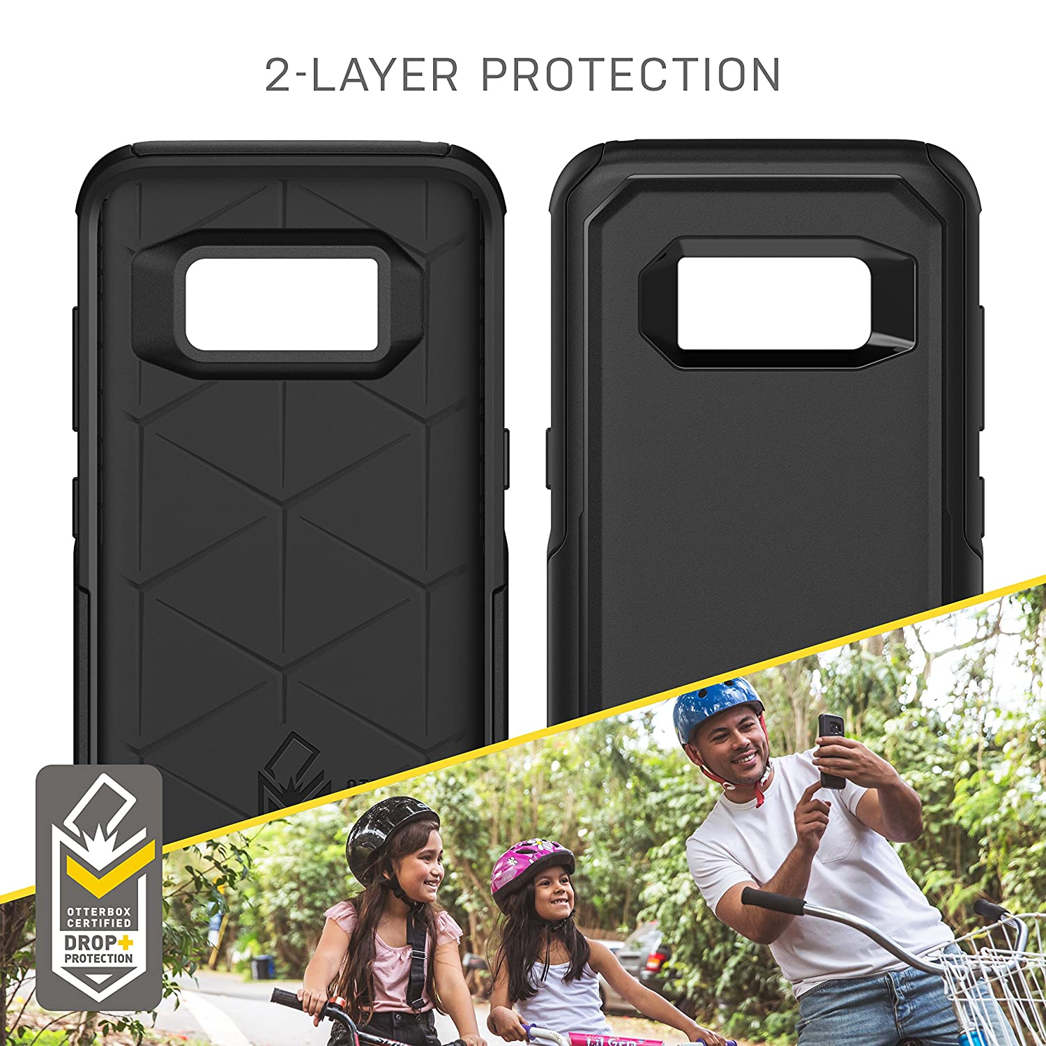 Black OtterBox Commuter Series for Samsung Galaxy S8 Frustration Free Packaging