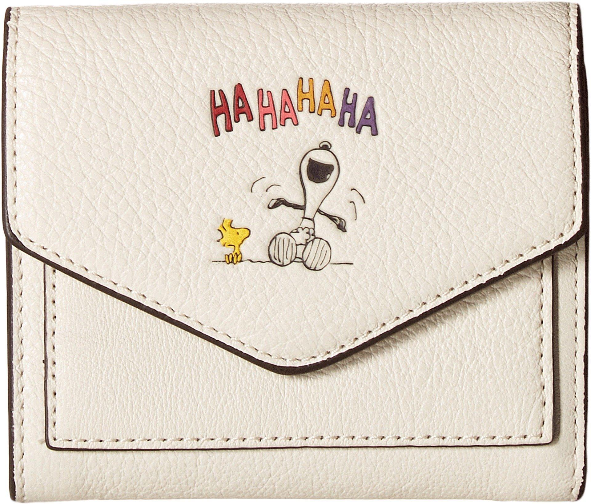 COACH Women's Box Program Snoopy Small Wallet Qb/Chalk One Size