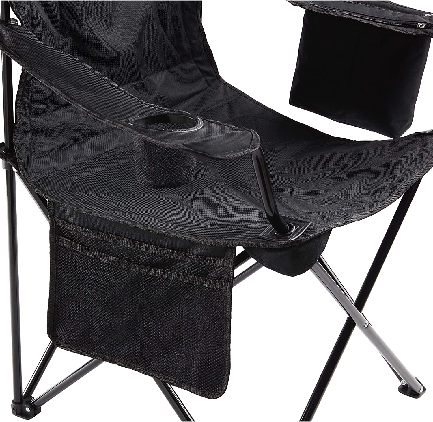 Coleman Camp Chair with 4-Can Cooler | Folding Beach Chair with Built In Drinks Cooler | Portable Quad Chair with Armrest Cooler for Tailgating, Camping & Outdoors : Camping Chair : Sports & Outdoors