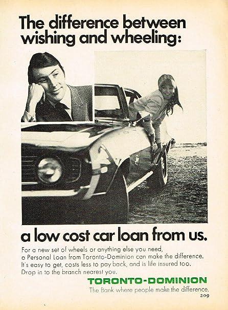 Td Bank Car Loan >> Amazon Com Toronto Dominion Bank Td Vintage Magazine Ad Year