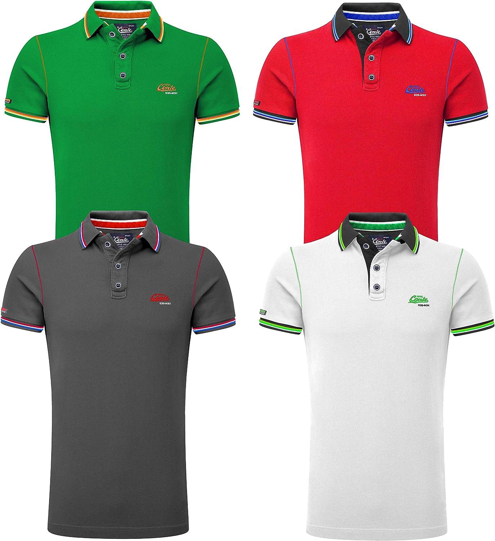 M066 UOMO MAGLIA POLO MAGLIETTA T-shirt A Maniche Corte Camicia Polo Slim Fit Clubwear