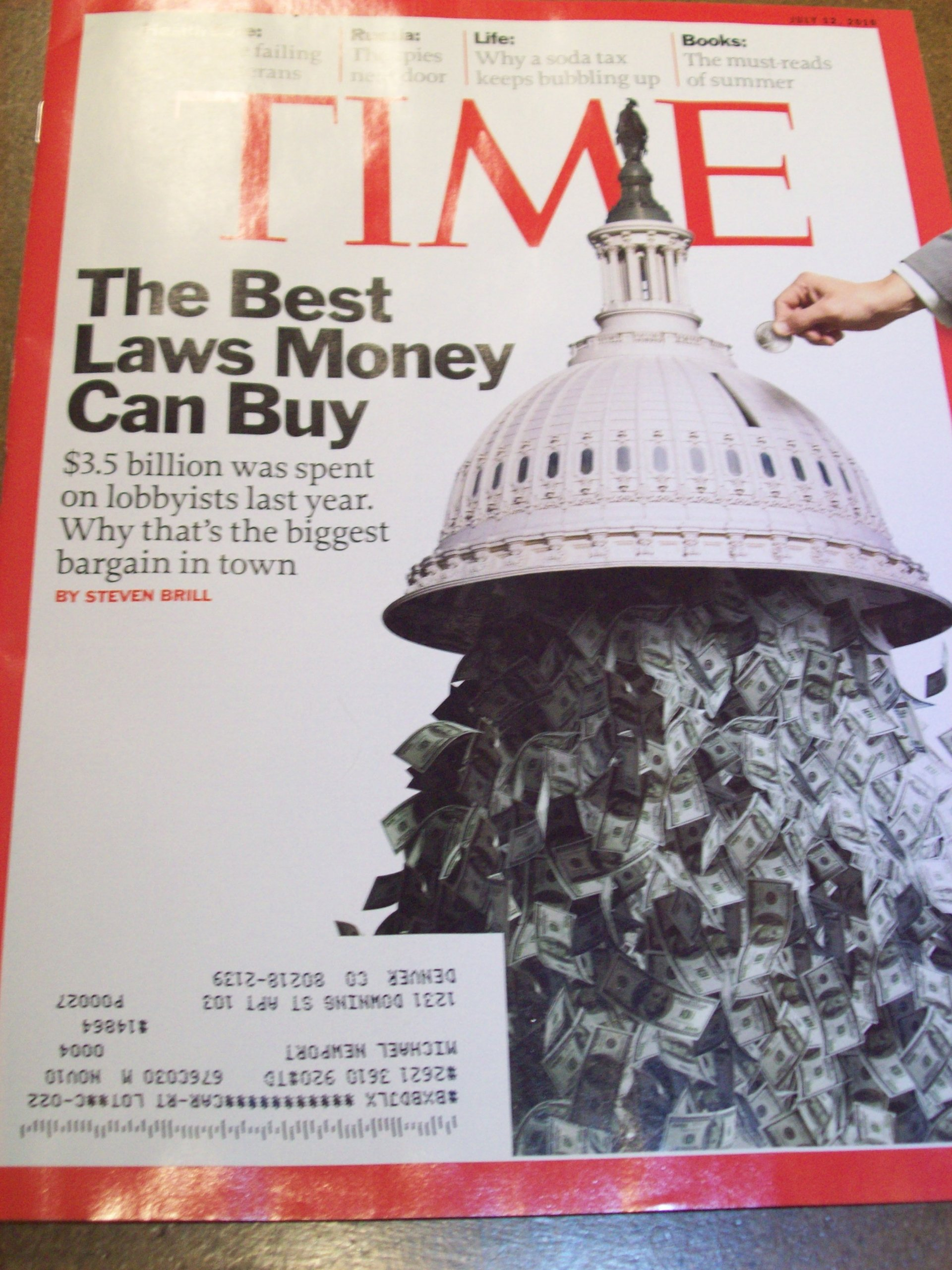 Time July 12, 2010 The Best Laws Money Can Buy pdf epub
