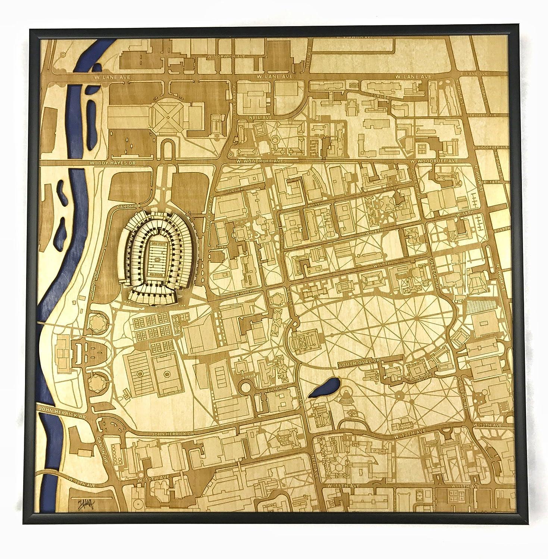 Amazon com : Columbus, Ohio Stadium Map (NCAA Football, Buckeyes