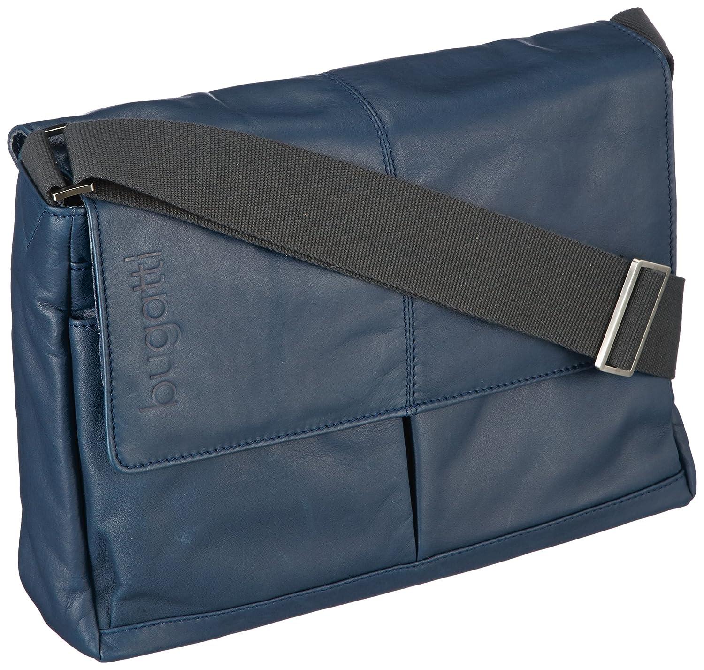 Bugatti Sac de Messager'john D.' Horizontale Moyenne en Bleu Bugatti Bags 49538705