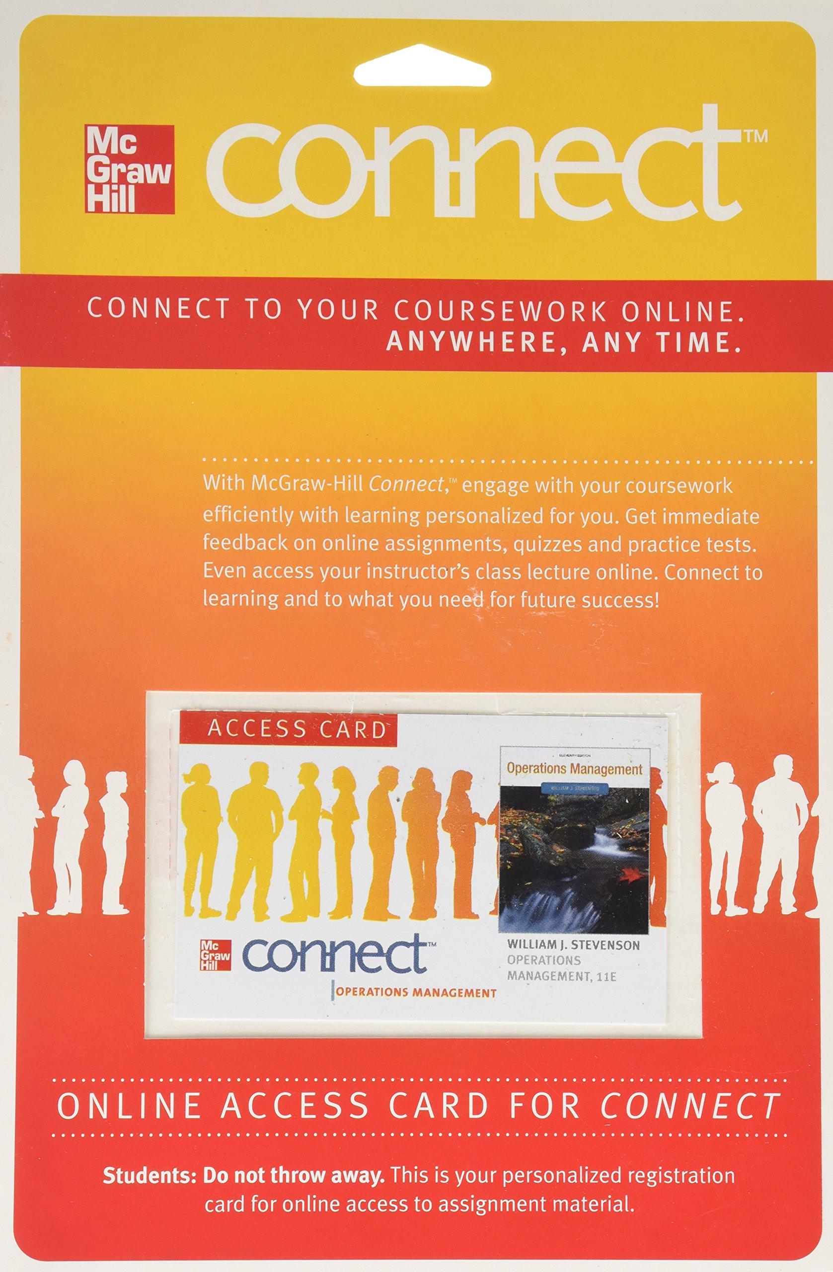 Connect OM 1sem Access Card for Operations Management 11e: William J  Stevenson: 9780077327422: Books - Amazon.ca