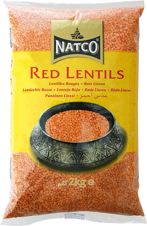 Natco - Lentejas (2 kg, 2 unidades), color rojo: Amazon.es ...