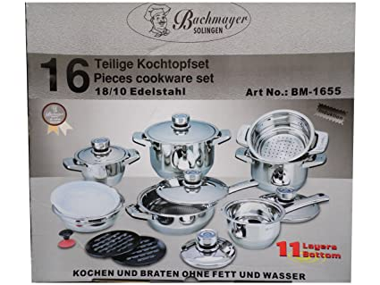 Solingen Bachmayer 16 Piece Cookware Set, High quality: Amazon co uk