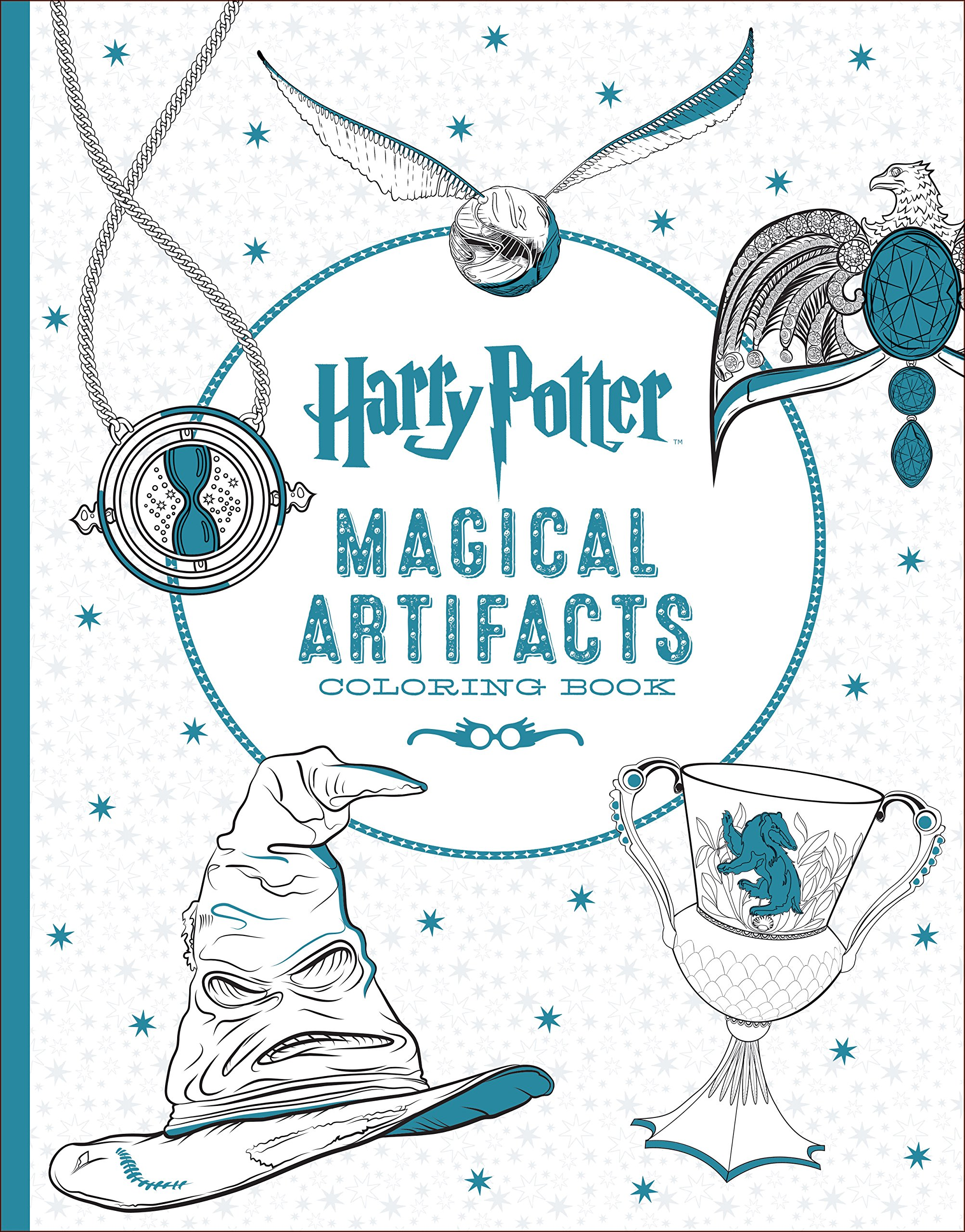 Harry Potter Magical Artifacts Coloring Book Scholastic 9781338030020 Amazon Books
