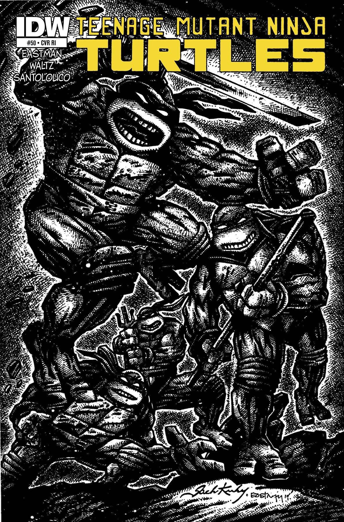 Teenage Mutant Ninja Turtles #50 Jack Kirby Variant: Amazon ...