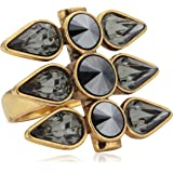 Pilgrim jewellery ladies ring brass, ladies ring from the Dome, gold plated, 2.7 cm 111332114