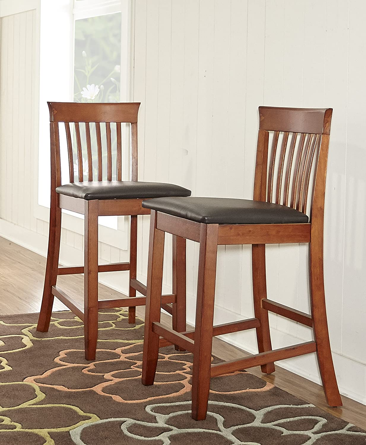 Craftsman Stool And Table Set Amazoncom Triena Collection Craftsman Counter Stool 24 Inch