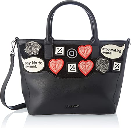 TALLA Talla única. Desigual Accessories PU Hand Bag, Mano Mujer, negro, U