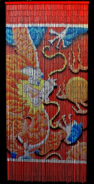 Amazon.com: Bamboo Beaded Curtain Lucky Dragon Door Way Curtain ...