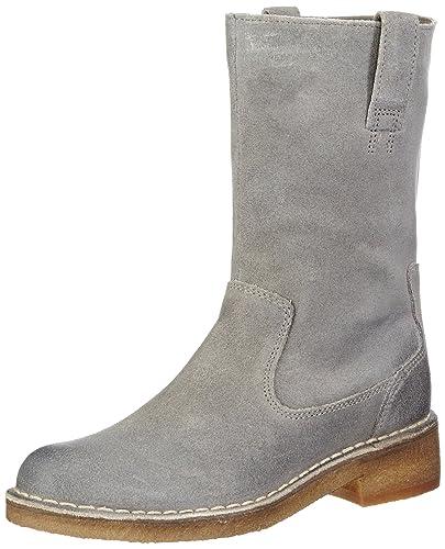 00b73d4239f48 Clarks Womens Maida Edge Biker Boots Gray Grau (Grey Leather) Size ...
