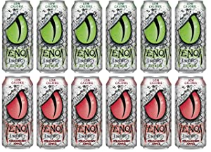 LUV-BOX Variety VENOM LOW CALORIE ENERGY DRINK pack , pack of 12 , 16 fl oz , CITRUS ENERGY DRINK , STRAWBERRY APPLE ENERGY DRINK