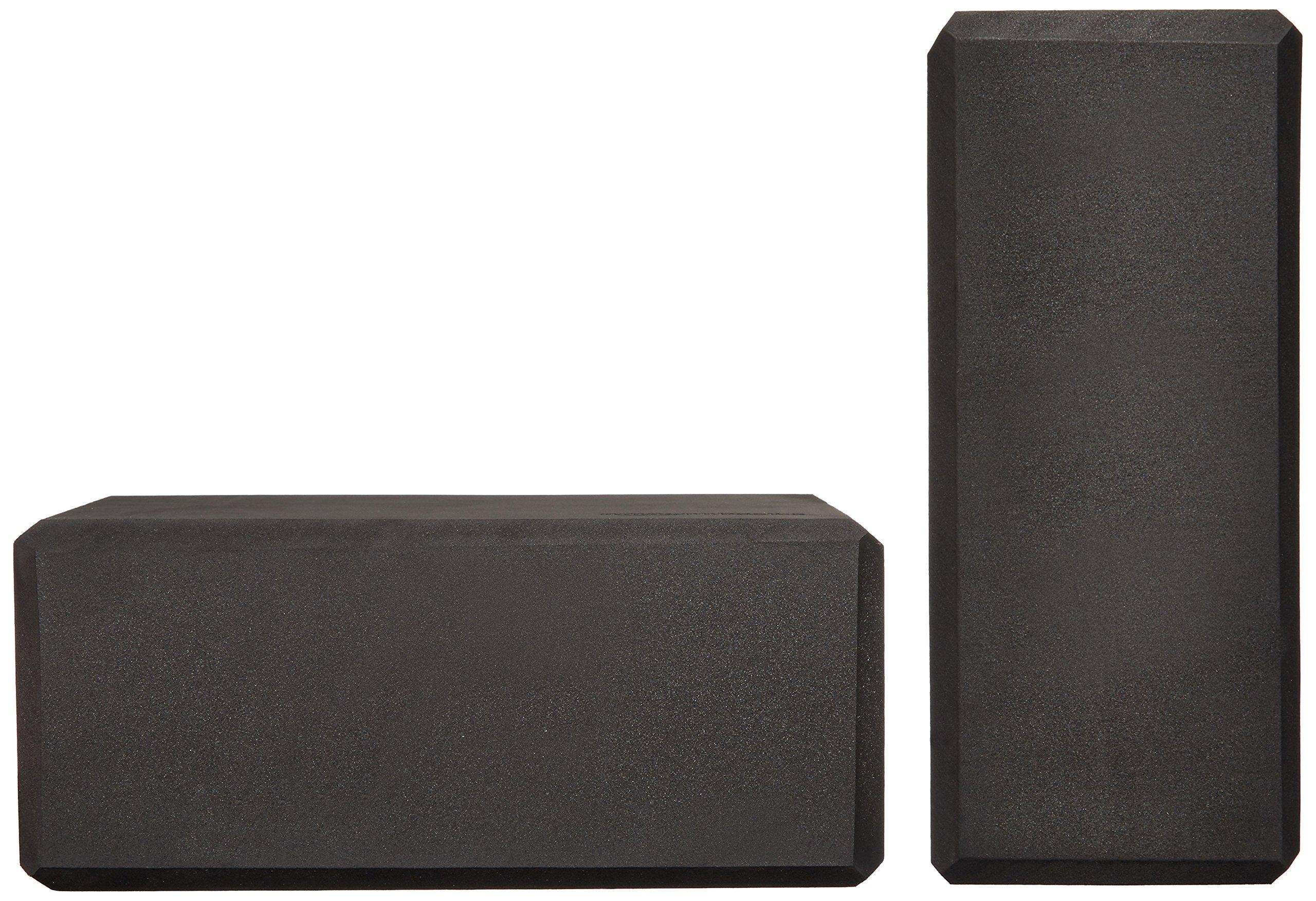 AmazonBasics Foam Yoga Blocks - 4 x 9 x 6 Inches, Set of 2, Black by AmazonBasics (Image #5)