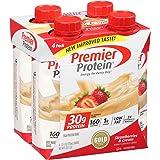 Premier Protein 30g Protein Shake, Strawberries & Cream, 11 fl oz Bottle, (4 Count)