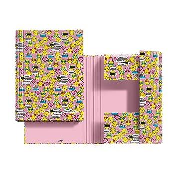 Jordi Labanda 20875 - Carpeta solapas e-mochis jl, cartón, DIN A4: 210 x 297 mm: Amazon.es: Oficina y papelería