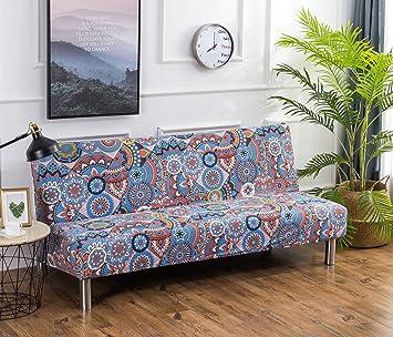 2c4f6ea243431f Cornasee Housse de Clic Clac élastique Canapé 3 Places,Salon Couverture de  Impression Florale,