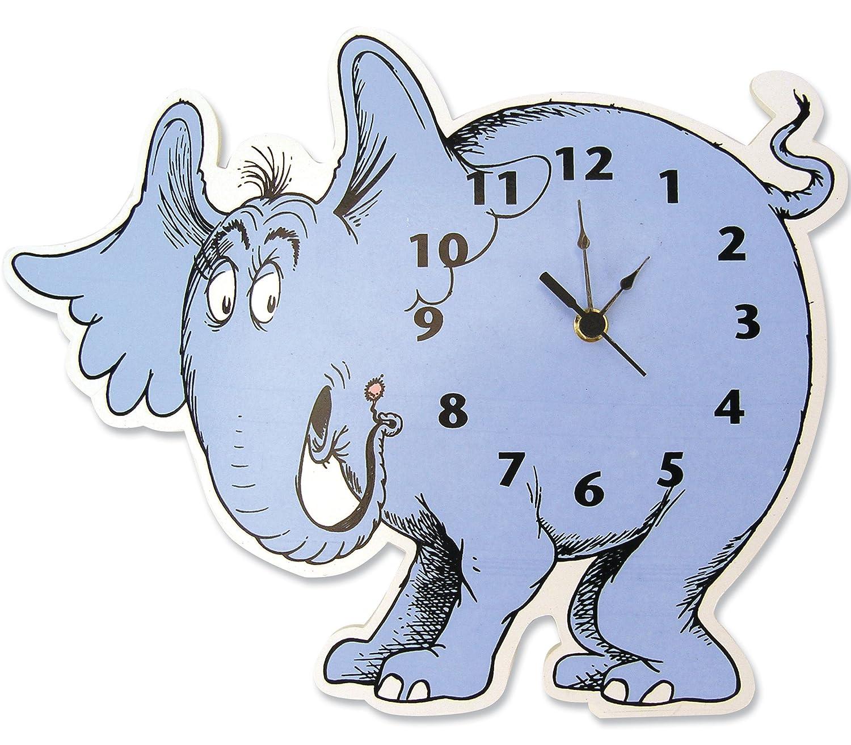 Amazon trend lab dr seuss horton elephant shaped wall clock amazon trend lab dr seuss horton elephant shaped wall clock blue baby amipublicfo Image collections