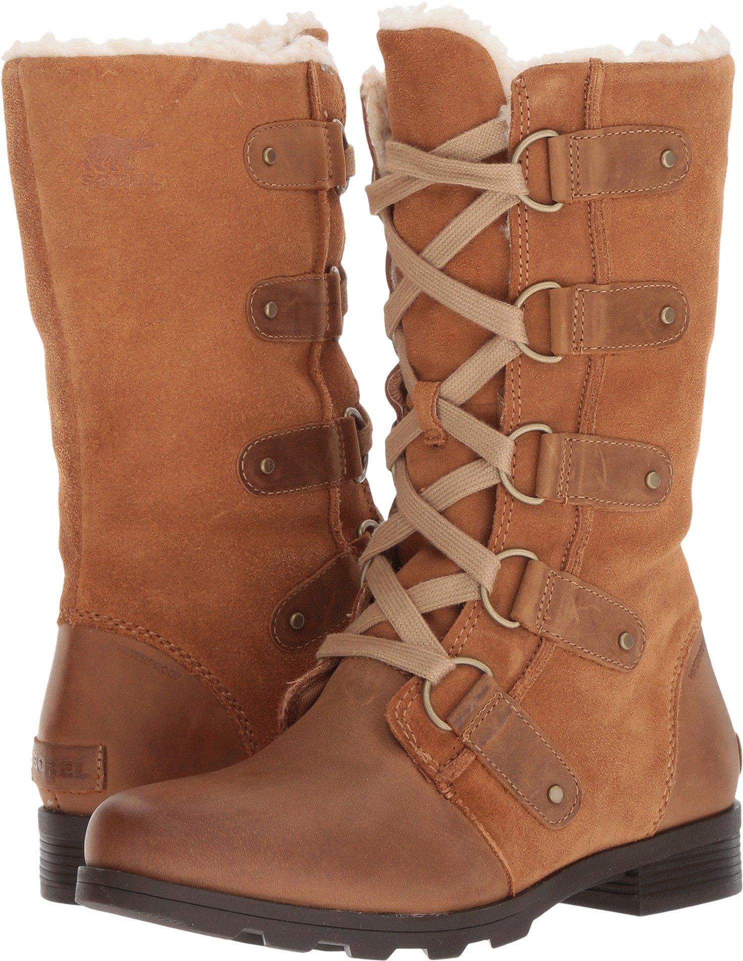 SOREL Women's Emelie Lace Boots (8.5 B(M) US, Elk/Cordovan)