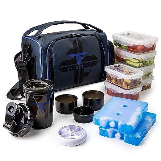 ThinkFit La Caja de Almuerzo con Aislamiento de Comidas de ...