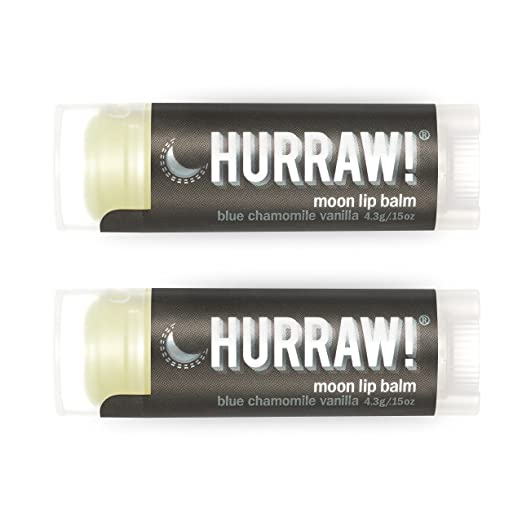HURRAW! Moon (2 Pack) Lip Balm: Night Treatment, Organic, Certified Vegan, Certified Cruelty Free, Non-GMO, Gluten Free, All Natural – Luxury Lip Balm Made in the USA – MOON (2 Pack)