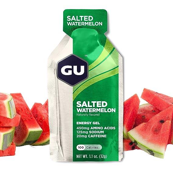 GU Energy Gel Energizante de Sandía Salada - Paquete de 24 x 32 gr - Total