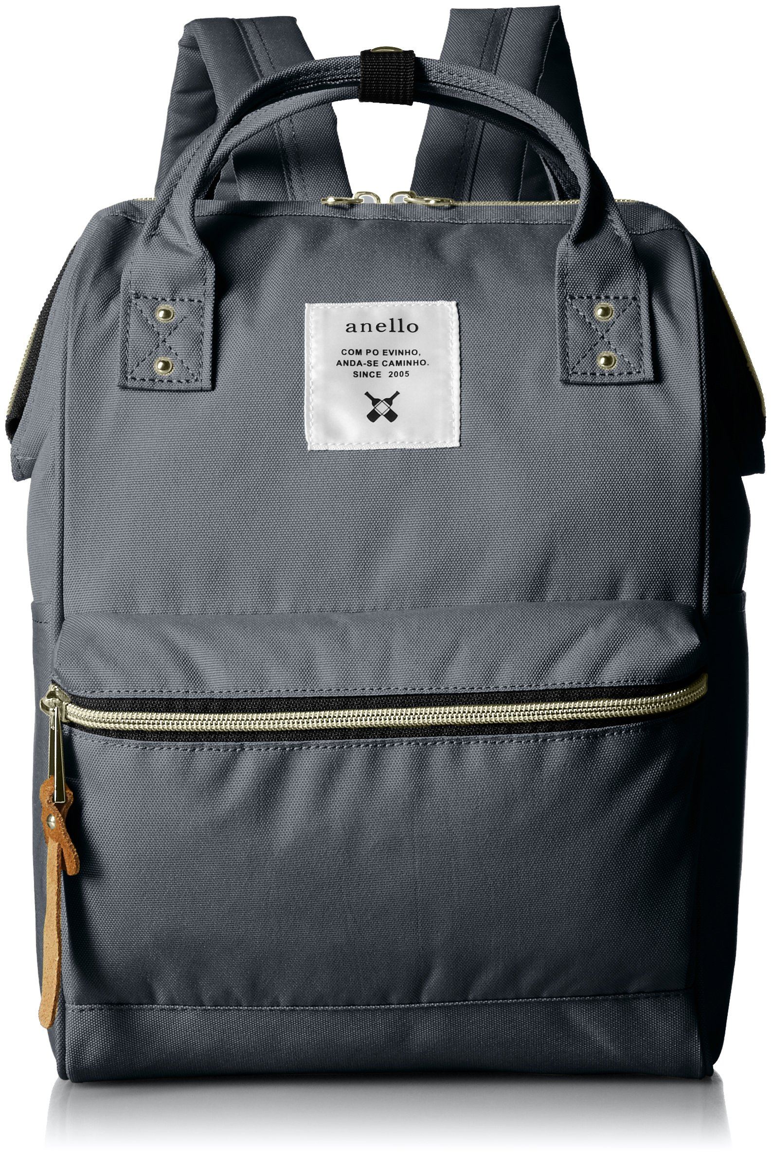 anello #AT-B0197B small backpack with side pockets (Charcoal gray)