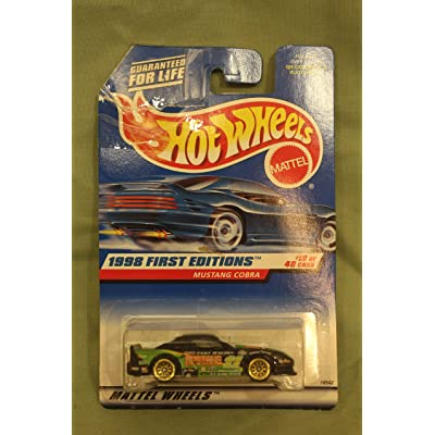 Hot Wheels Mustang Cobra Black 1998 First Editions Series #18 of 40 Basic Car 1:64 Scale Series Collector #665: Toys & Games [5Bkhe1106147]